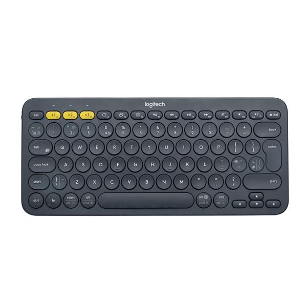 Logitech K380 Multi-device UK Bluetooth sötétszürke billentyűzet - 1