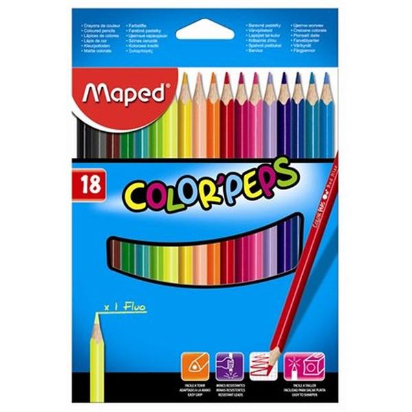 Maped Color Peps 18db-os vegyes színű színes ceruza - 1