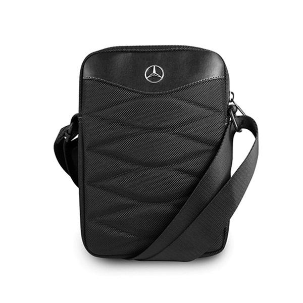 Mercedes III mintás 10 fekete tablet táska - 2