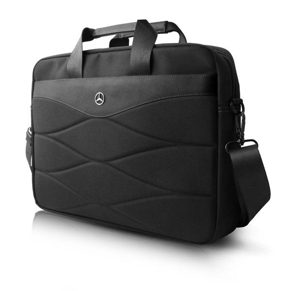 Mercedes III mintás 15 fekete notebook táska - 1