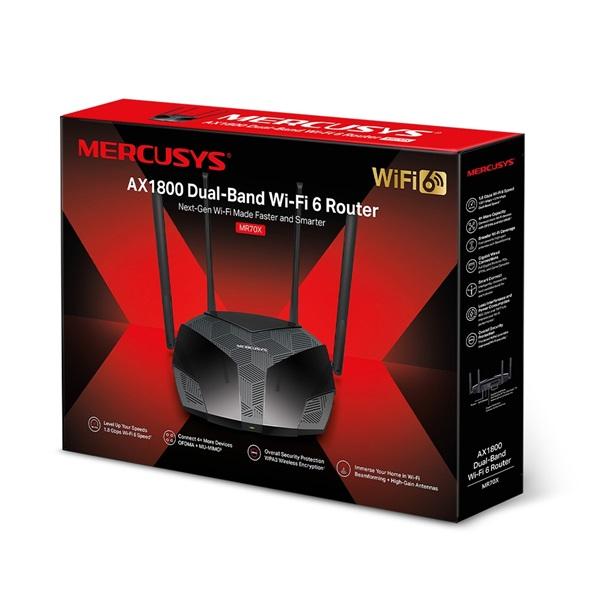 Mercusys MR70X AX1800 Wi-Fi 6 Dual-Band Vezeték nélküli Gigabit Router - 4
