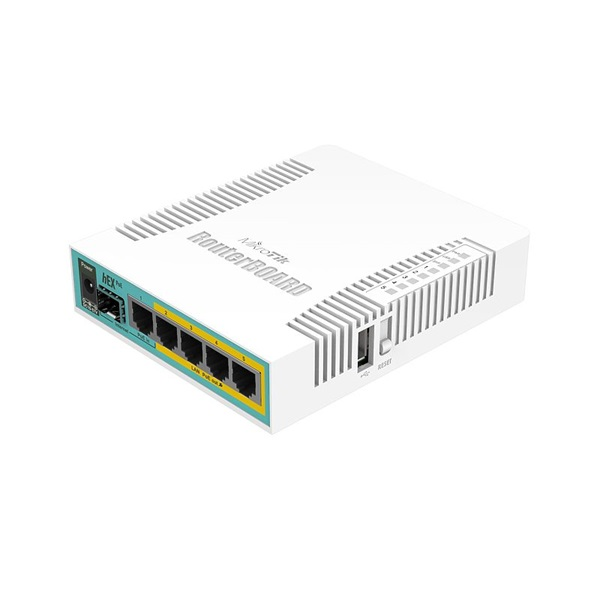 MikroTik hEX PoE RB960PGS L4 128MB 5x GbE PoE port router - 1