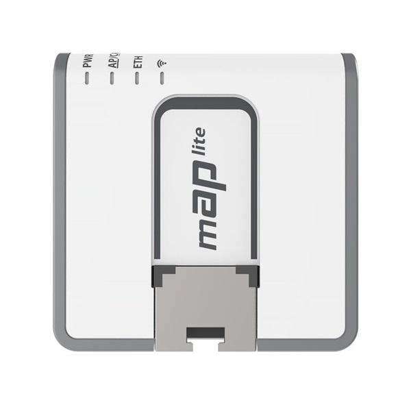 MikroTik mAP lite 64MB RAM, 1xLAN, 2,4GHz integrált antennás wifi router - 2