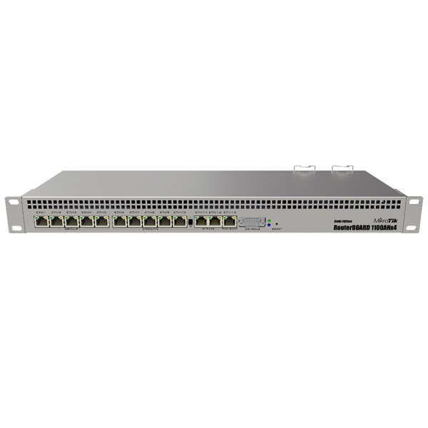 MikroTik RB1100AHx4 Dude edition L6 1GB 13x GbE LAN Router - 1