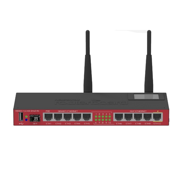 MikroTik RB2011UiAS-2HnD-IN L5 128Mb Vezeték nélküli Smart router - 1
