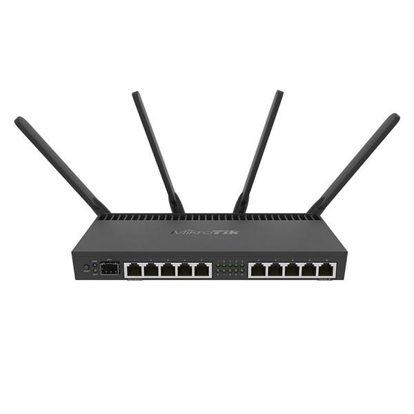 MikroTik RB4011IGS+5HACQ2HND-IN 10port GbE LAN, 1xSFP+ port, 2,4GHz & 5GHz 802.11ac wireless külső antennával - 1