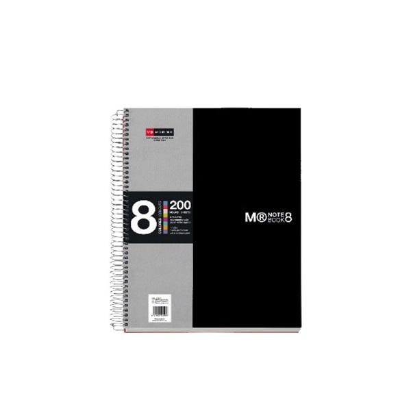 Miquelrius A4 8x25lapos kockás fekete spirálfüzet - 1