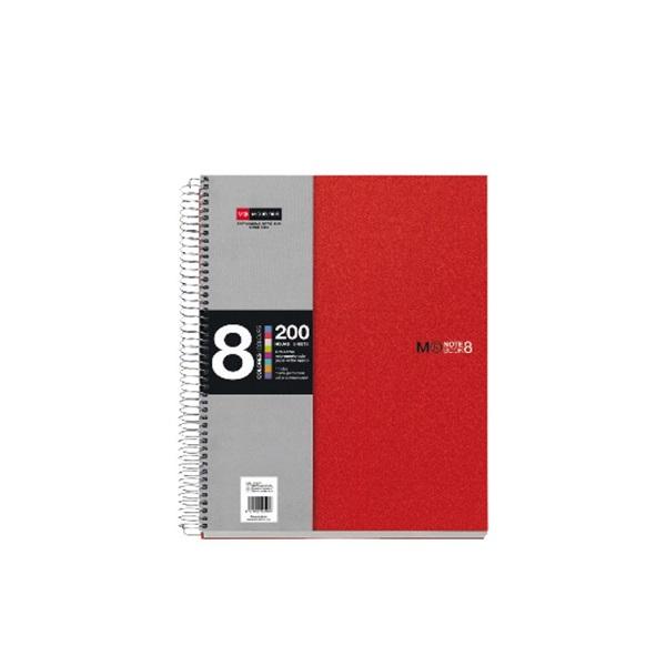 Miquelrius A4 8x25lapos kockás piros spirálfüzet - 1