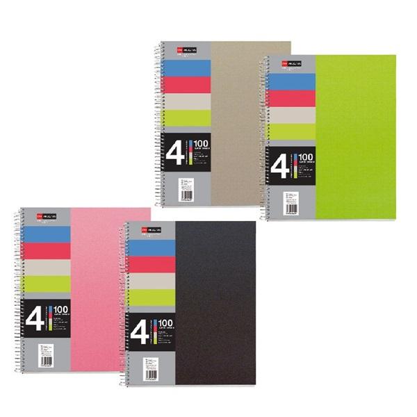 Miquelrius A5 4x25lapos PP kockás színes spirálfüzet - 1