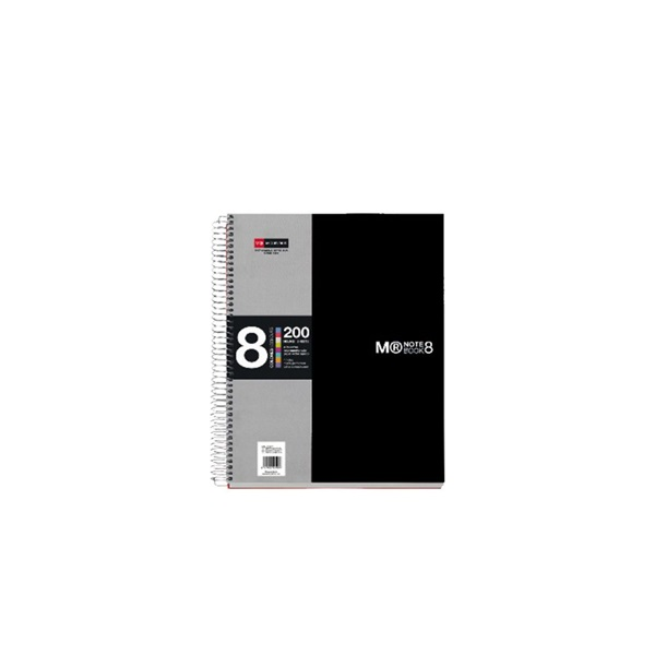 Miquelrius A5 8x25lapos kockás fekete spirálfüzet - 1