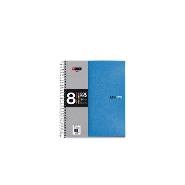 Miquelrius A5 8x25lapos kockás kék spirálfüzet - 1