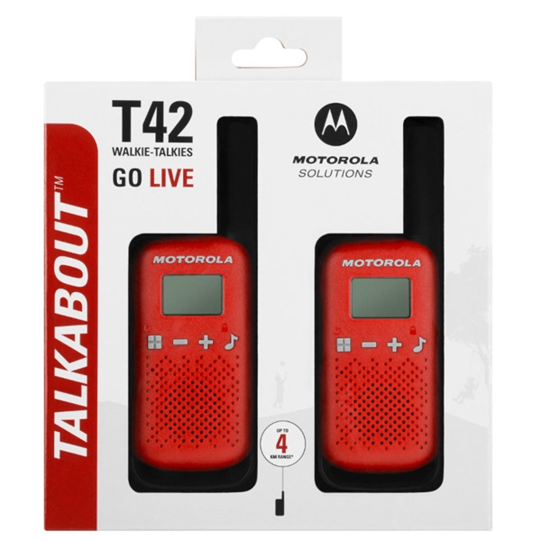 Motorola Talkabout T42 piros walkie talkie (2db) - 3