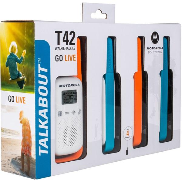 Motorola Talkabout T42 Quad walkie talkie (4db) - 2