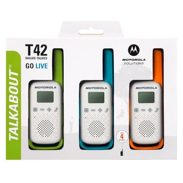 Motorola Talkabout T42 Triple Pack walkie talkie (3db) - 3