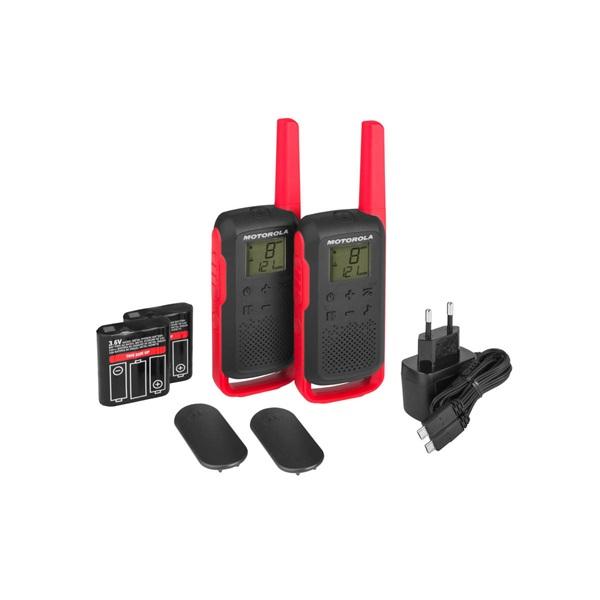 Motorola Talkabout T62 piros walkie talkie (2db) - 3
