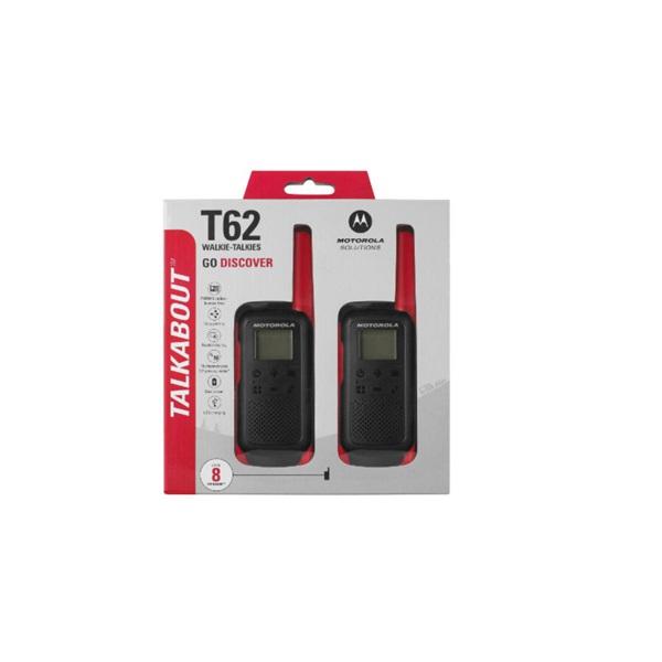 Motorola Talkabout T62 piros walkie talkie (2db) - 4