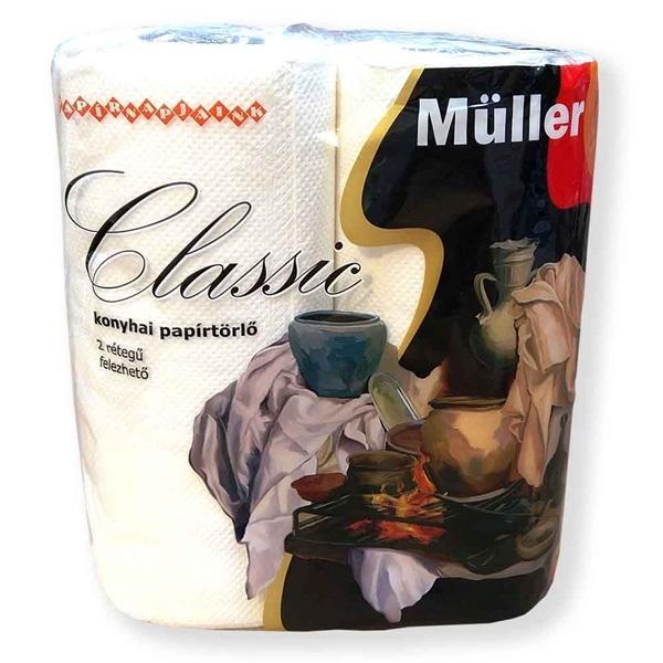 Müller Classicbcell 50 lap/tekerecs 2 tekercs/csomag háztartási papírtörlő - 1