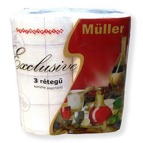 Müller Exclusive 3rétegű 2tekercs/csomag háztartási papírtörlő - 1