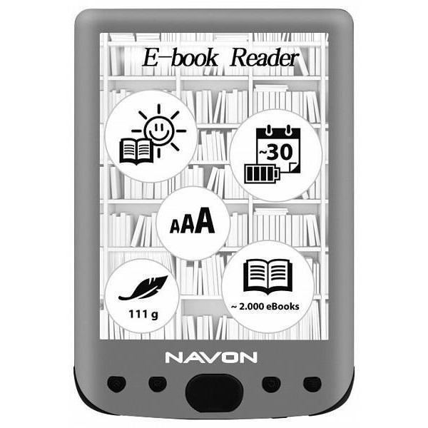 Navon BigBook Backlight 6 8GB E-book olvasó - 1