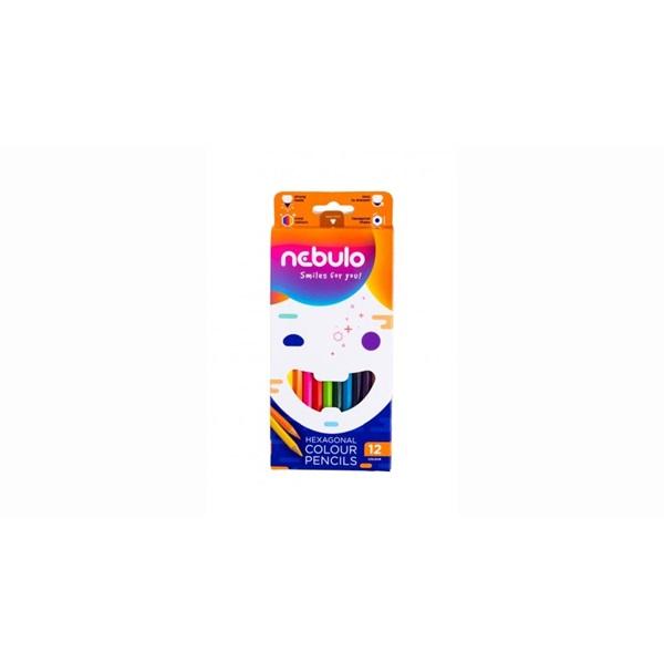 Nebuló 12db-os vegyes színű színes ceruza - 1