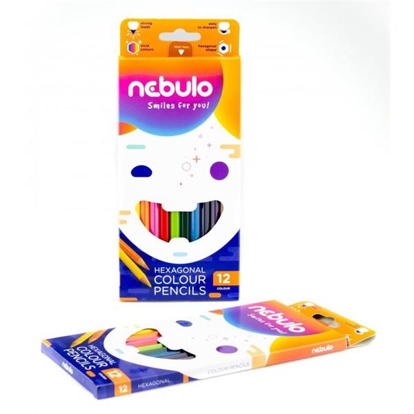 Nebuló 12db-os vegyes színű színes ceruza - 2