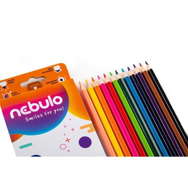 Nebuló 12db-os vegyes színű színes ceruza - 3