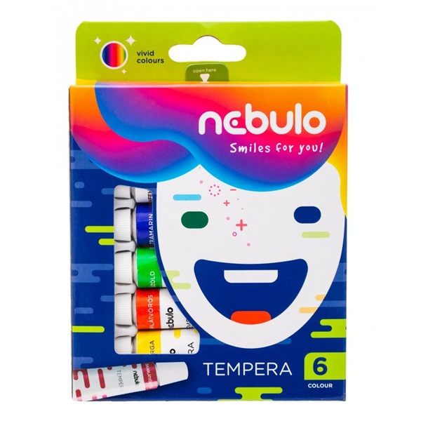 Nebuló 6 féle színű tempera készlet - 1