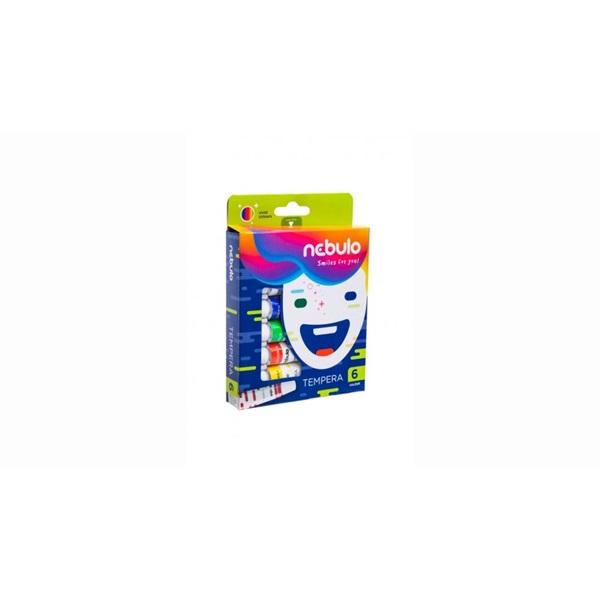 Nebuló 6 féle színű tempera készlet - 2