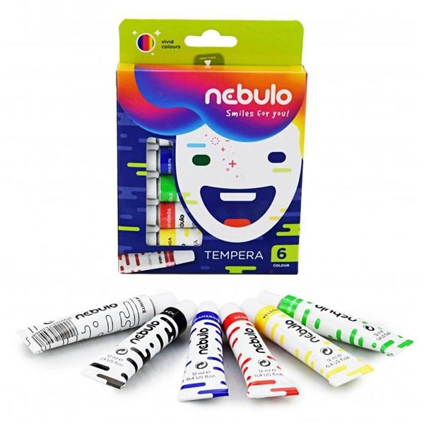 Nebuló 6 féle színű tempera készlet - 3