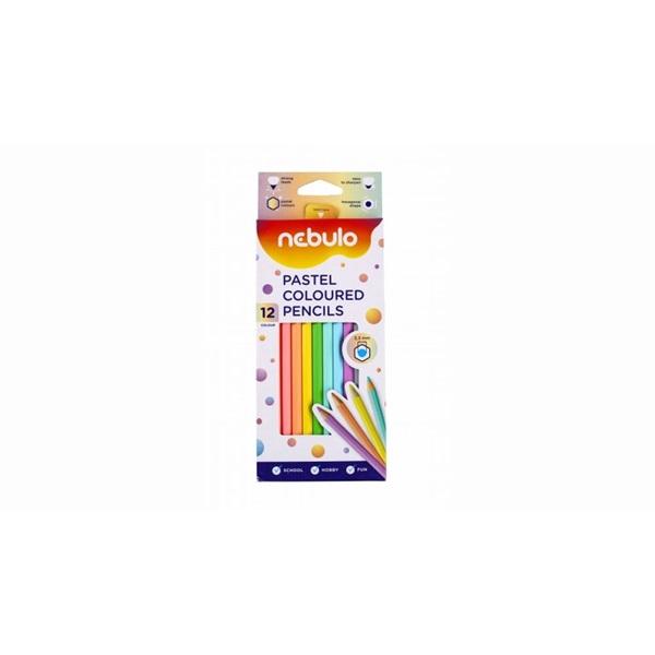 Nebuló pasztell 12db-os vegyes színű színes ceruza - 1