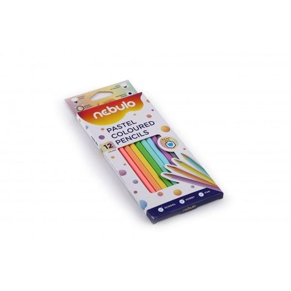 Nebuló pasztell 12db-os vegyes színű színes ceruza - 2