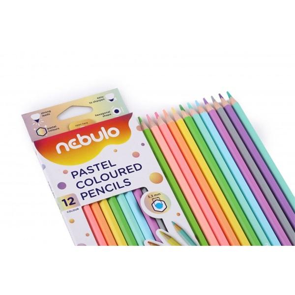 Nebuló pasztell 12db-os vegyes színű színes ceruza - 3