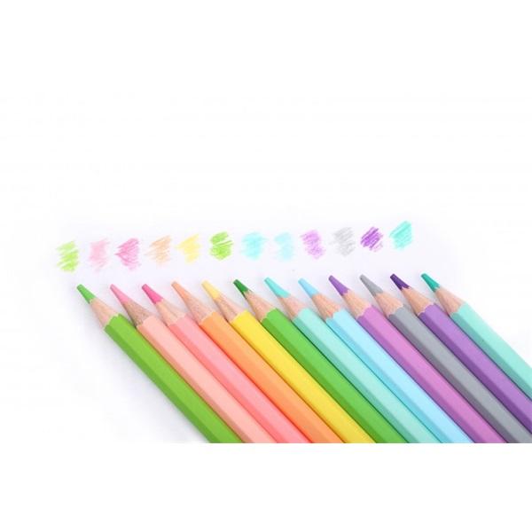 Nebuló pasztell 12db-os vegyes színű színes ceruza - 4