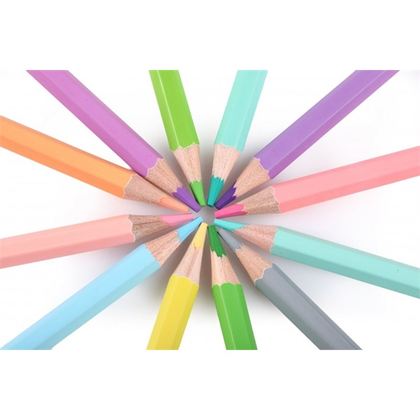 Nebuló pasztell 12db-os vegyes színű színes ceruza - 5