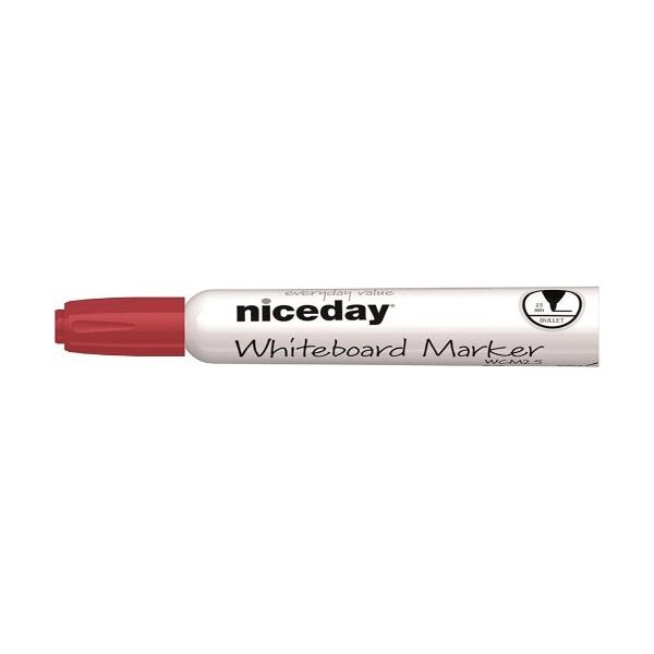 Niceday kerek hegyű piros táblamarker - 1