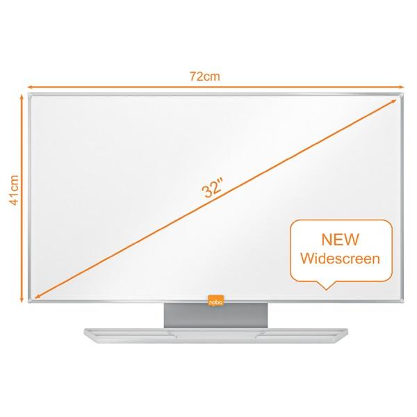 Nobo Nano Clean 32 széles képarányú mágneses fehértábla - 1