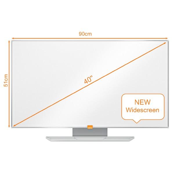 Nobo Nano Clean 40 széles képarányú mágneses fehértábla - 1