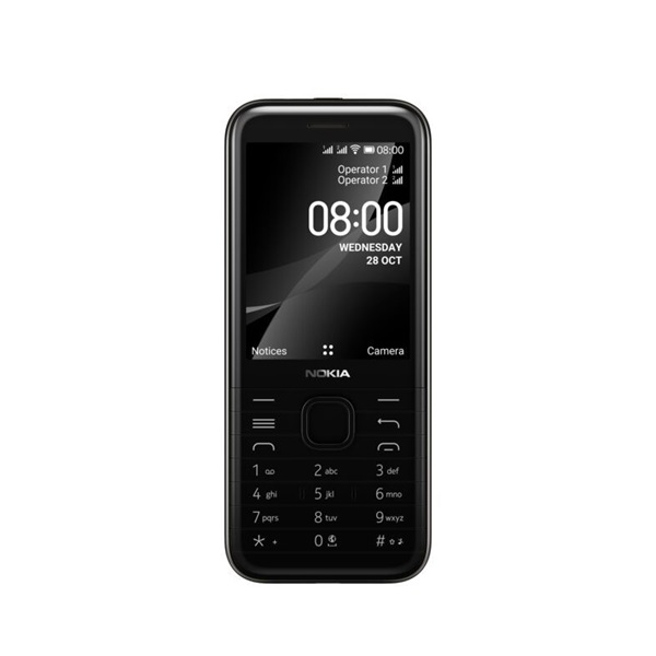 Nokia 8000 4G 2,8 Dual SIM fekete mobiltelefon - 1