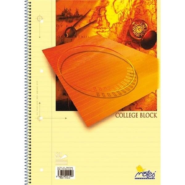 Notes College A5 50lapos lefűzhető vonalas spirálfüzet - 1