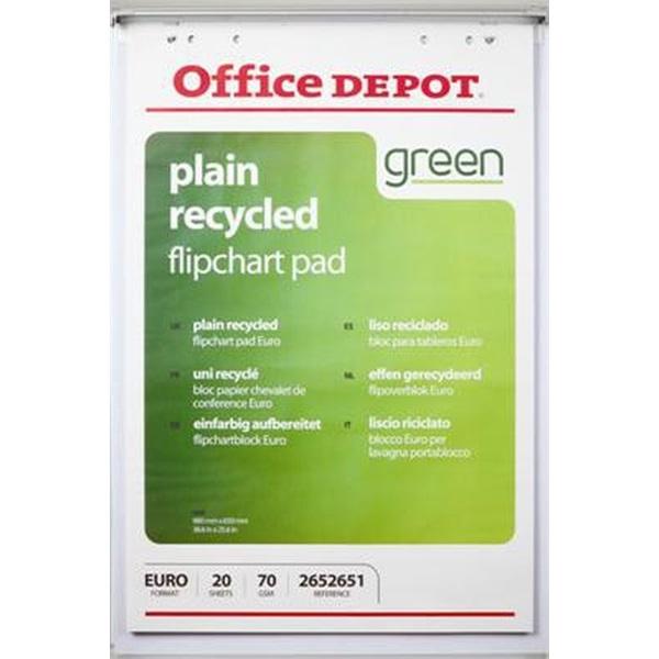 Office Depot 5 tömb újrahasznosított sima flipchart papír - 1