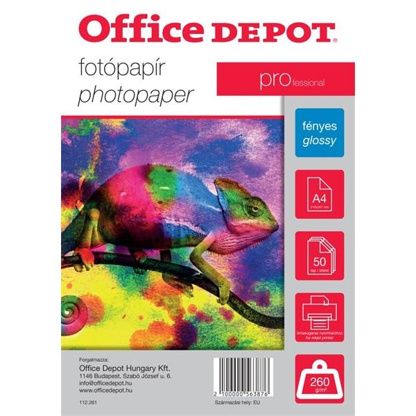 Office Depot Pro A4 260g fényes 50db fotópapír - 1