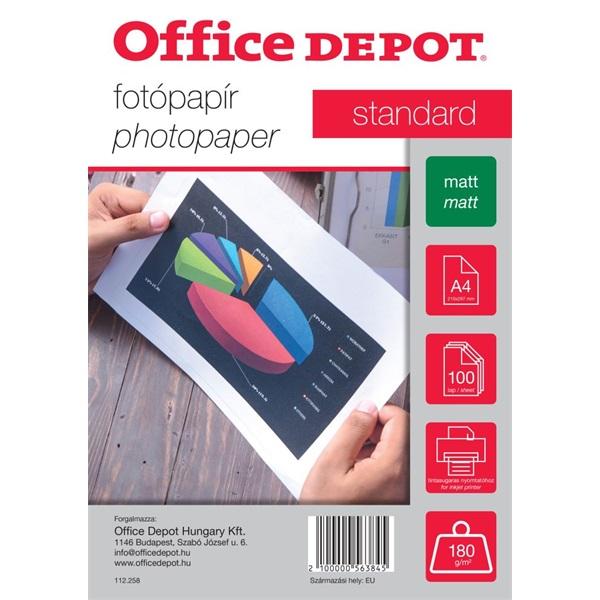 Office Depot Standard A4 180g matt 100db fotópapír - 1