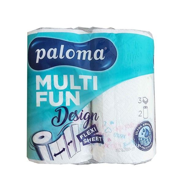 Paloma KT MULTI FUN 3 rétegű 145lap színes 2 tekercs/csomag papírtörlő - 1