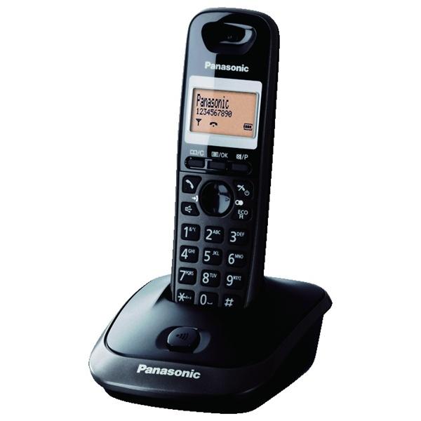 Panasonic KX-TG2511HGT kihangosítható hívóazonosítós titánfekete dect telefon - 1