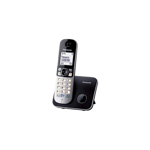 Panasonic KX-TG6811PDB fehér háttérvil. kihangosítható hívóazonosítós fekete dect telefon - 1