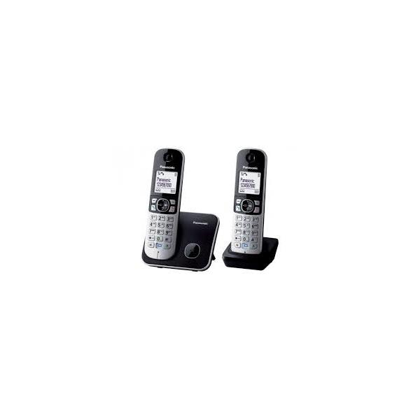 Panasonic KX-TG6812PDB DUO fehér háttérvil. kihangosítható hívóazonosítós fekete dect telefon - 1
