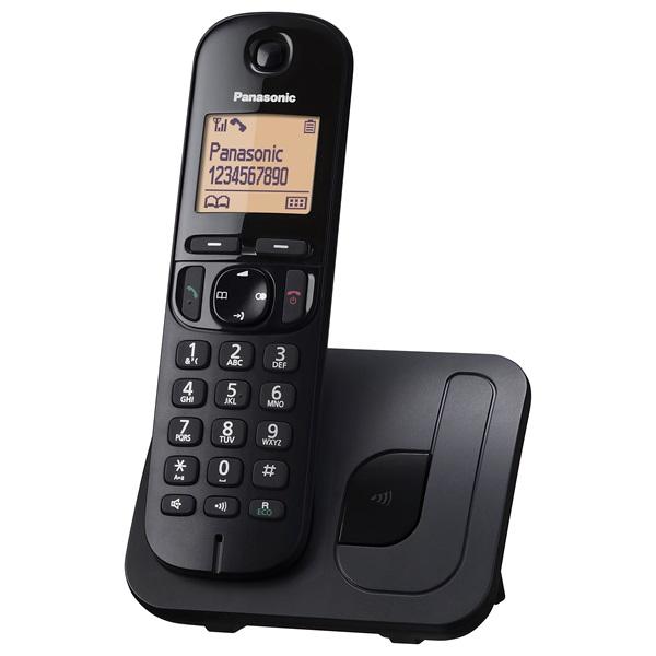 Panasonic KX-TGC210PDB hívóazonosítós kihangosítható fekete dect telefon - 1