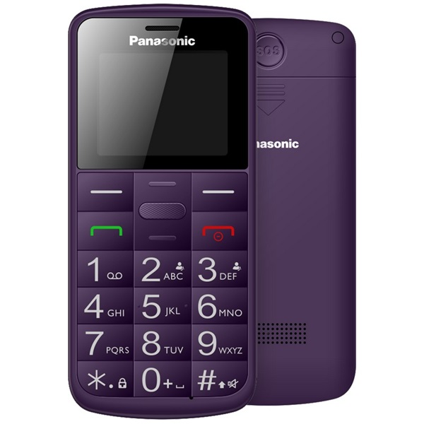 Panasonic KX-TU110EXV 1,77 Dual SIM lila mobiltelefon - 1