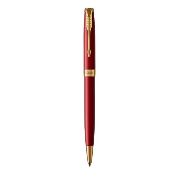 Parker Royal Sonnet golyóstoll piros, arany klipsz - 1