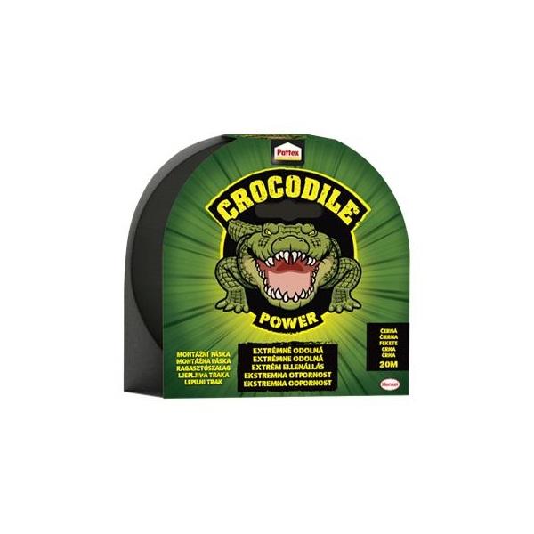 Pattex Crocodile 20mx48mm fekete ragasztószalag - 1